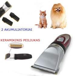 Šunų ir kačių bevielė kirpimo mašinėlė Langba | Naminių gyvūnų kirpimo mašinėlė su 2 akumuliatoriais