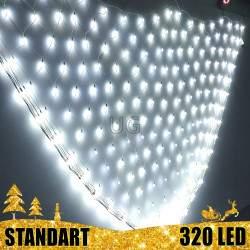 320 LED burbuliukų Girlianda Užuolaida - Tinklas 3 x 2 m.