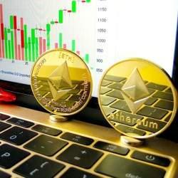 Suvenyrinė ETHEREUM kriptovaliutos moneta