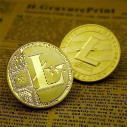 Suvenyrinė LITECOIN kriptovaliutos moneta