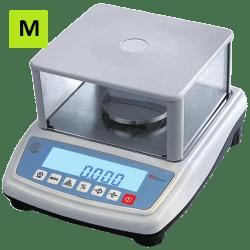 Laboratorinės graminės svarstyklės 6001MP su metrologine patikra 6000 g - 0,1 g