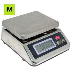 Drėgmei atsparios svarstyklės DA-15-MP su metrologine patikra | 15 kg