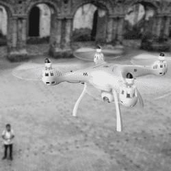 Dronas su kamera Syma X8SW-D