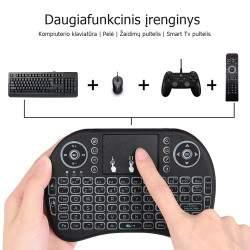 Mini beviele TV klaviatūra su pašvietimu