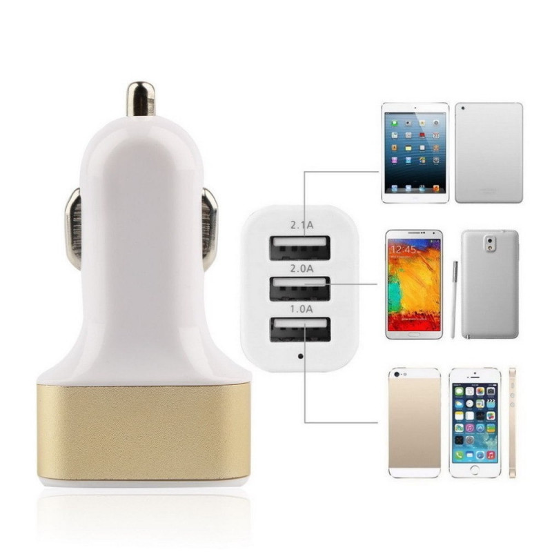 Automobilinis įkroviklis (pakrovėjas) USB 3 jungčių 4.1A