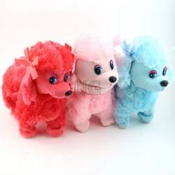 Žaislinis šuniukas su pavadėliu Fluffy