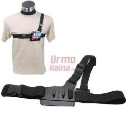 Krūtinės diržas GoPro veiksmo kamerai 3 point Chest Mount Harness