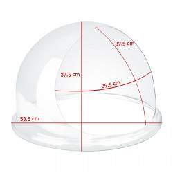 Apsauginis stiklas cukraus vatos aparatui 52 cm