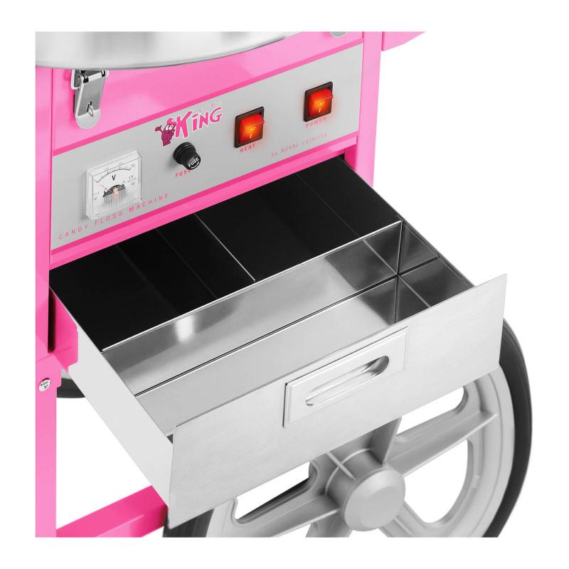 Cukraus vatos gaminimo aparatas su vežimėliu Royal RCZC-1200XL