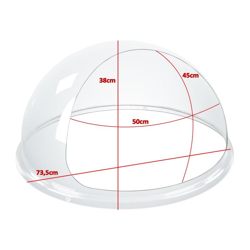 Apsauginis stiklas cukraus vatos aparatui 72 cm