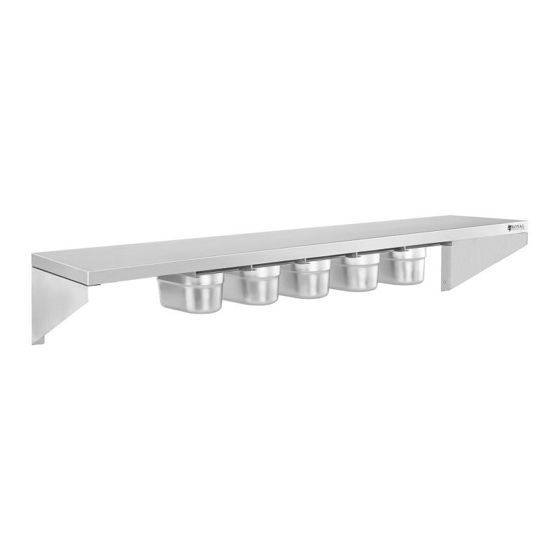 Pakabinama lentyna - 90 cm - nerūdijantis plienas - su stalčiais