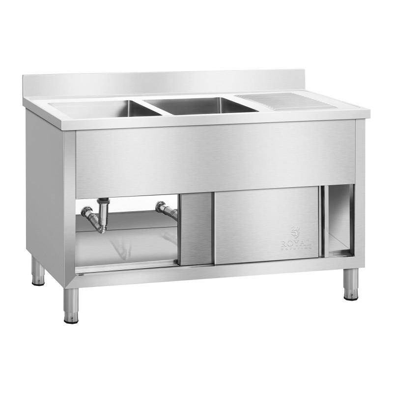 Pramoninė virtuvės kriauklė su spintele RCHS-1400WS