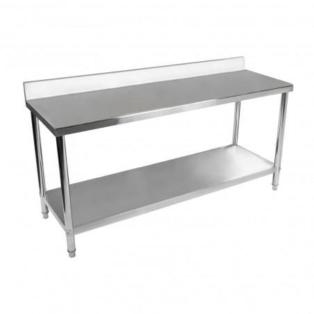 Darbo stalas - 200 x 60 cm - nerūdijantis plienas