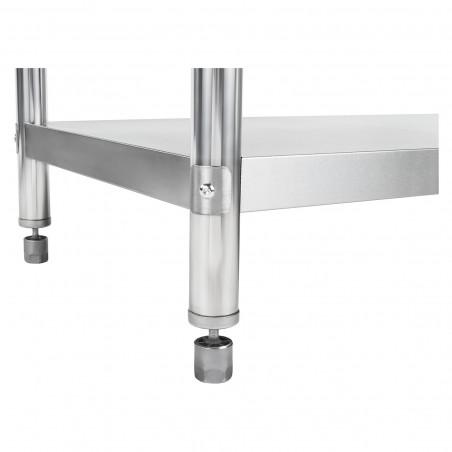 Darbo stalas - 120 x 70 cm - nerūdijantis plienas