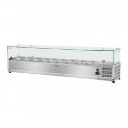 Vitrininis šaldytuvas - Royal Catering - 180 x 33 cm