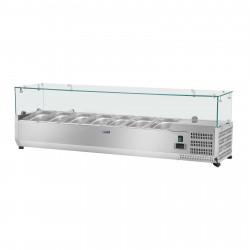 Vitrininis šaldytuvas - Royal Catering  - 160 x 33 cm