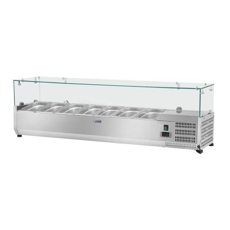 Vitrininis šaldytuvas - Royal Catering - 160 x 39 cm