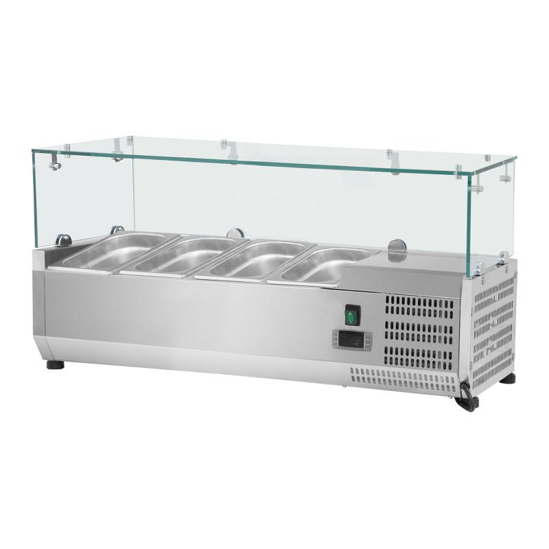 Vitrininis šaldytuvas - Royal Catering - 120 x 39 cm