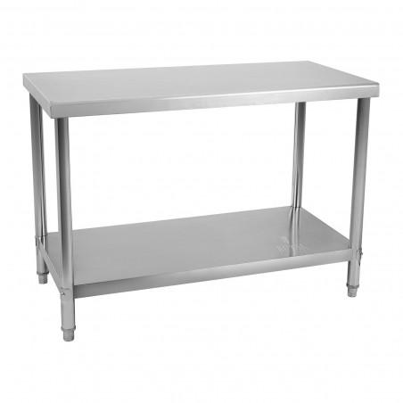 Nerūdijančio plieno stalas 100x60 cm