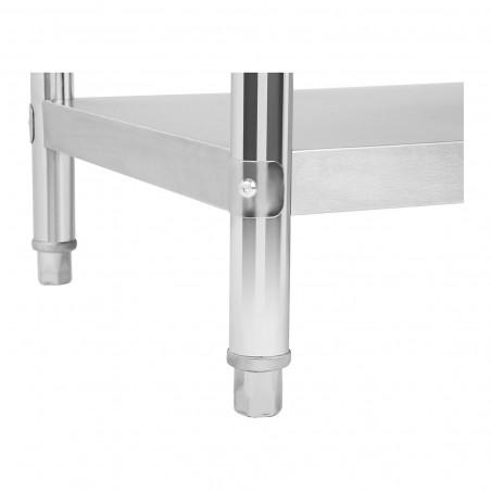 Darbo stalas - 100 x 70 cm - nerūdijantis plienas