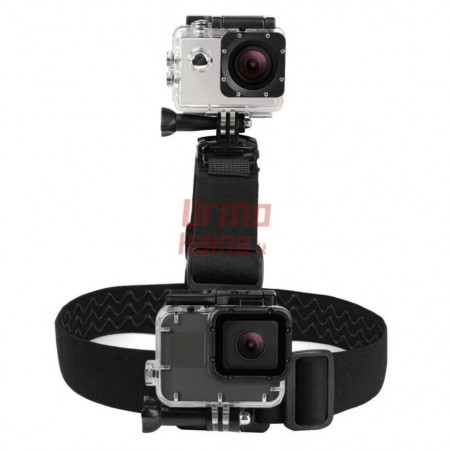 GoPro dvigubas kameros laikiklis ant galvos