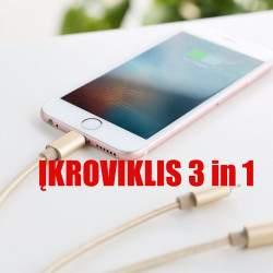 Universalus USB laidas 3 in 1