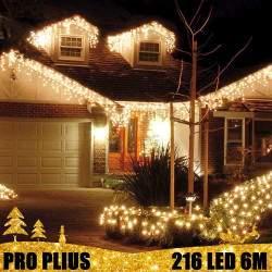 Profesionali lauko girlianda varvekliai 216 LED PRO PLIUS IP67