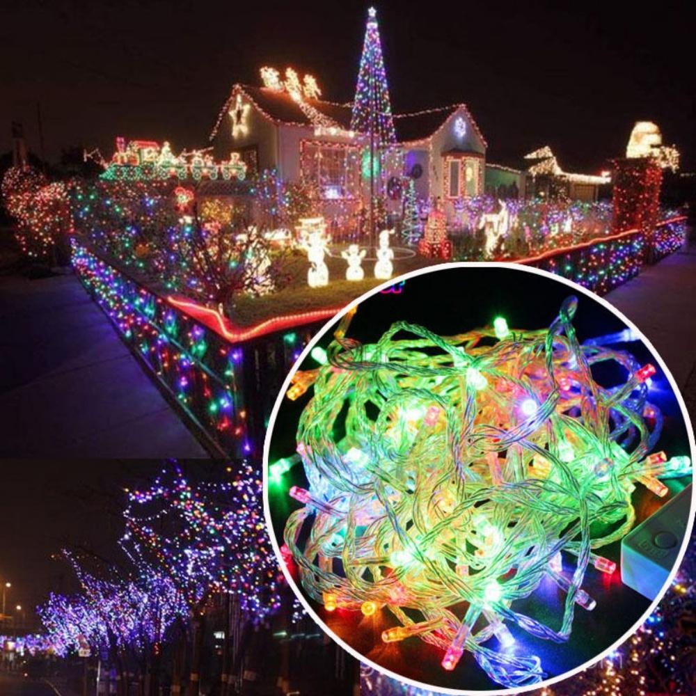 Kalėdinė girlianda 200 LED STANDART skaidriais laidais
