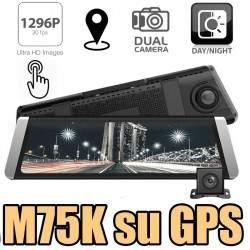 Vaizdo registratorius su galinio vaizdo kamera M75K su GPS