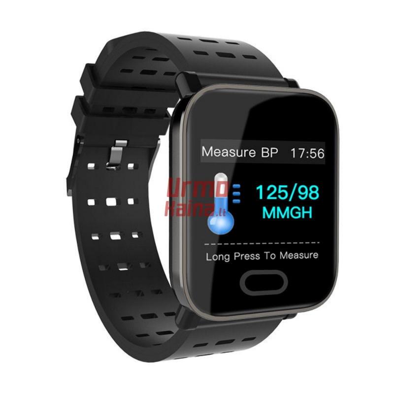 Išmanusis laikrodis su pulso ir spaudimo  matuokliu H08