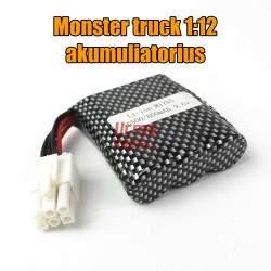 RC mašinėlės Monster Truck 1:12 akumuliatorius