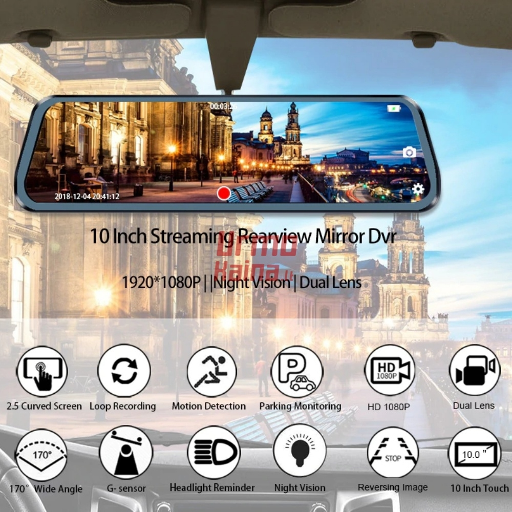 Vaizdo registratorius M73K su galinio vaizdo kamera