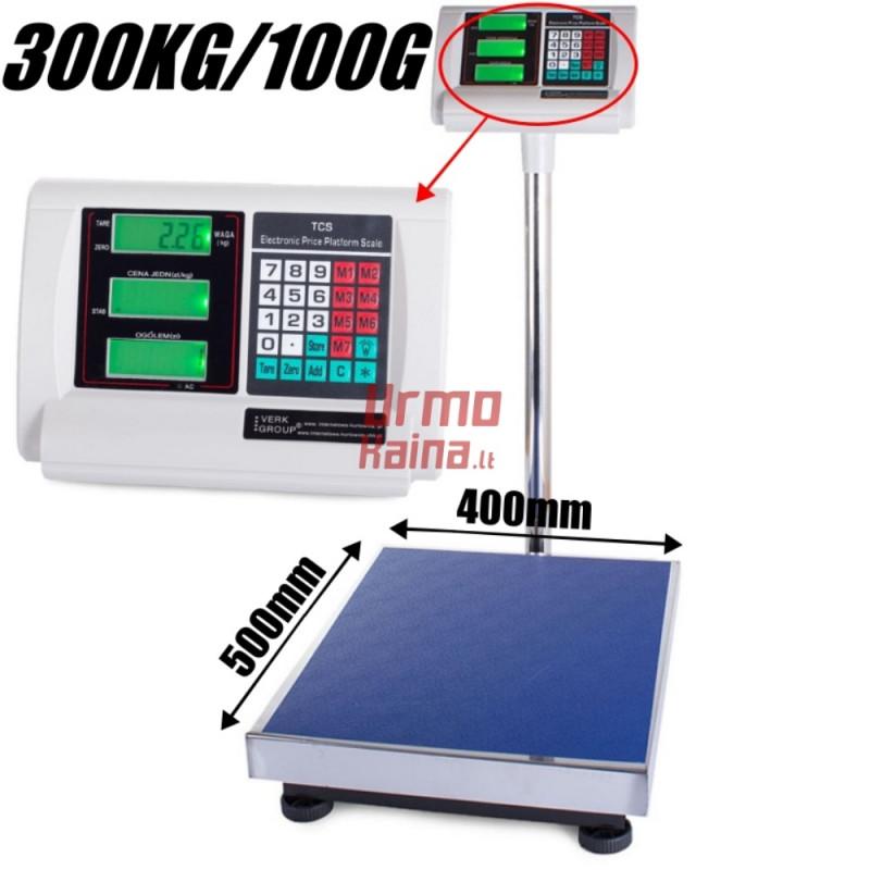 Platforminės svarstyklės 3001AM (300 kg, 50x40)