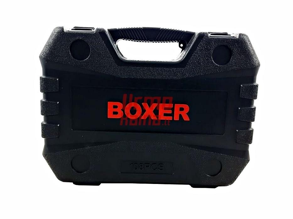 Įrankių galvučių rinkinys BOXER 108 dalių