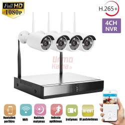 4 WiFi kamerų vaizdo stebėjimo komplektas VF4