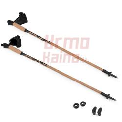 Šiaurietiško ėjimo lazdos S-W su Anti-shock sistema,  kamštinėmis rankenomis
