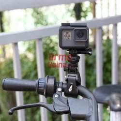 GoPro veiksmo kameros laikiklis - žnyplės rėmui ir vamzdžiui