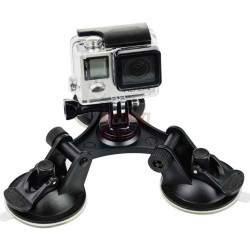 GoPro kameros laikiklis | Trigubas vakuminis laikiklis