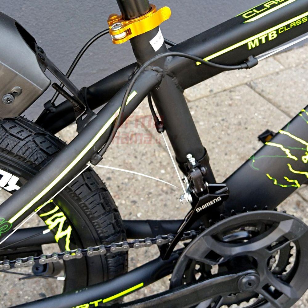 Vaikiškas dviratis BS20 Green/ Black