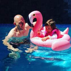 Pripučiamas plaustas, ratas vaikams Flamingas