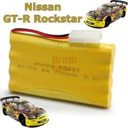 RC mašinėlės su pultu Nissan Skyline GT-R Rockstar akumuliatorius