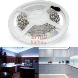 LED juosta 3528 5m Balta 12V