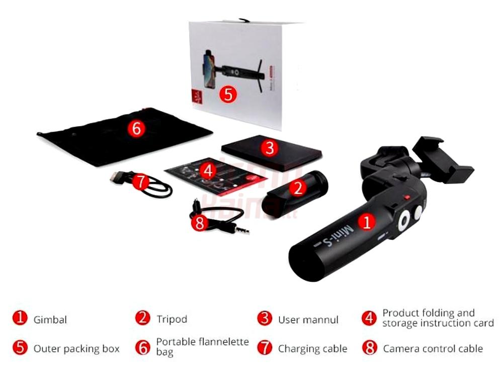 Stabilizatorius telefonui MOZA Mini-S Black