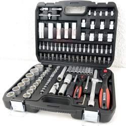 Įrankių galvučių rinkinys BOXER SP 108 dalių