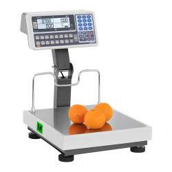 Platforminės svarstyklės su pakeltu ekranu - Kalibracijos sertifikatas | 30 kg / 10 g