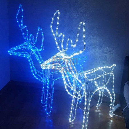 LED dekoracija 3D švečiantis elnias M CL3