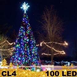 100 LED lauko girlianda storais laidais FLASH CL4