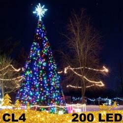 200 LED lauko girlianda storais laidais FLASH CL4