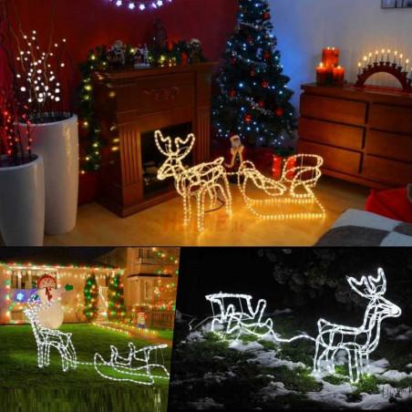 LED dekoracija 3D šviečiantis elnias su rogėmis M CL3