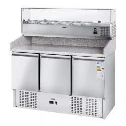 Vitrininis šaldytuvas - Šaldomas stalviršis - 137 x 70 cm